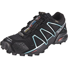 Salomon Speedcross 4 GTX Kengät Naiset, black/black/metallic bubble blue